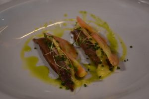 Anchoa con membrillo y tomat